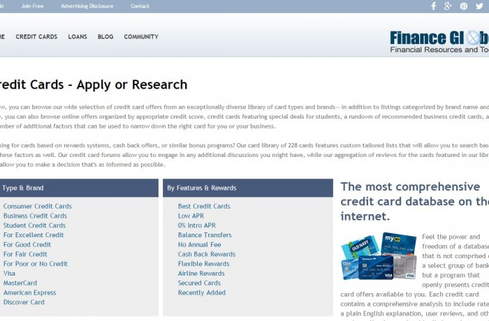 Finance Globe: Credit Cards